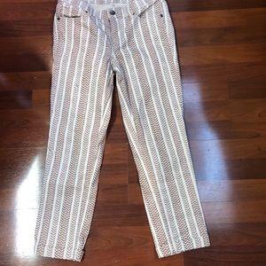 Ann Taylor tribal boho Cropped jeans